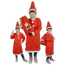 Toddler Girls Baby Christmas Santa Claus Costume Dress with Hat Outfit Set ee