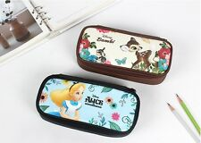Disney Character Pouch Bag Pencil Pen Case Cosmetic Makeup  Pouch Zipper Purse