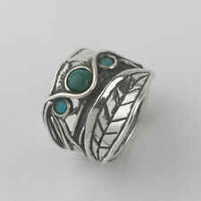 SHABLOOL 925 Sterling Silver Turqouise Gemstone Turquoise Nature Ring
