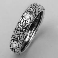 Designed 925 Sterling Silver Ring White CZ White Band Ring
