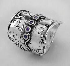 Unique Sterling Silver 925 Ring journy Ring Amethyst CZ Purple Ring