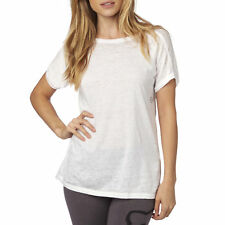 Fox Racing Womens White Accordant Short Sleeve T-Shirt Tee
