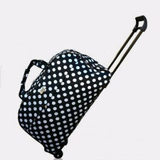 Bottom Rolling Wheeled Duffel Weekend Bag Carry On Luggage Travel Suitcase Tote