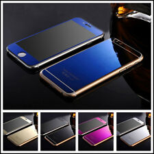 Mirror Tempered Glass Front+Back Screen Protector Film For iphone 5 6S +Plus SE