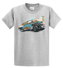 Brent Gill Car Blue Gasser Racer Graphic Tees Reg - Big and Tall Size Port & Co