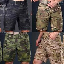 Men's Military Camo Army Combat Trousers Tactical Work Pocket Pants Cargo Shorts