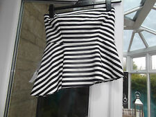 Bnwt zara black and white peplum top size medium