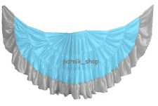 Women Satin Gypsy 25 Yard 4 Tier Skirts Tribal Belly Dance Costumes ATS JUPE