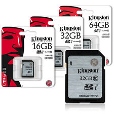 16GB 32GB 64GB Kingston SD10VG2 SDHC SDXC Class 10 UHS-I Flash SD Memory Card
