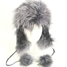 Women's Real Fox Fur New Genuine Leather Russian Aviator trapper Hat caps earfla