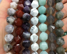 12mm Natural Gemstone Beads Nugget Faceted Beads Loose Bead For Jewelry Making