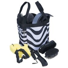 Tough-1 10 Piece Horse Grooming Kit in Fun Prints with Caddy and Tools