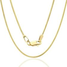 "14K Snake Link Necklace 0.8MM  Yellow Gold Chain Lobster Clasp Size 16"" to 18"""