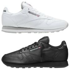 REEBOK MEN'S CLASSIC LEATHER TRAINERS WHITE BLACK 2214 2267 SNEAKERS SHOES RETRO