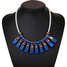 1PC Irregular box Leather Rope Necklace  Pendant  Clavicle Chain Geometry  Hot