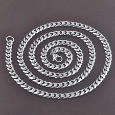 """Stainless Steel 20"""" or 24"""" Long Mens 7mm Wide Mens Curb Chain Womens Necklace"""