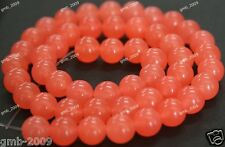 "6mm 8mm Round Natural Red Jade Carnelian Round Gemstone Loose Beads 15""AAA"