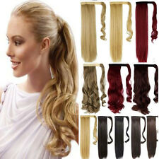 Real as Human Make Clip In Hair Extension Pony Tail Wrap Around Ponytail