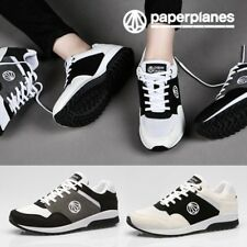 Paperplanes PP1430 Leather Lace Up Mens Running Shoes Athletic Sneakers Trainers