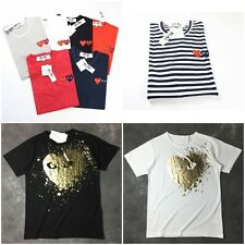 Unisex CDG Play Little Heart T-shirt Short Sleeve Comme Des Garcons Shirt T Top