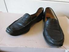 MENS TO BOOT NEW YORK BLACK LEATHER SLIP-ON LOAFERS SHOES - SIZE 9 1/2 M