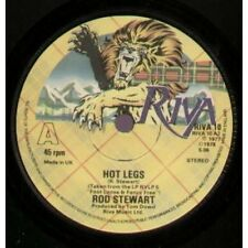 "ROD STEWART Hot Legs 7"" VINYL UK Riva 1978 B/W I Was Only Joking (Riva10)"