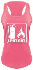 I Put Out Funny Ladies Racerbak Tank Top Fireman Firefighter Sexual Rude Fire Z6