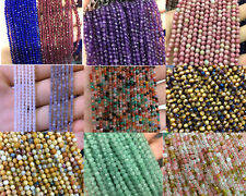 Wholesale Natural Gemstone Beads 4mm Faceted Beads Round Loose Stone Beads 15''