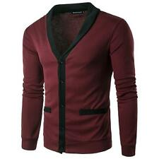 NWT Fashion Fit Long Sleeve Piece V-neck Cardigan Knit Sweater Slim Casual Coat