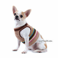 Rustic Cotton Crocheted Dog Harness Teacup Chihuahua Clothes DH69 Myknitt
