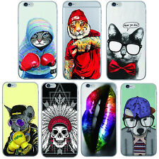 1Pcs For iPhone Case TPU Silicon Shell Phone Mobile Cover Animals Ultra Soft