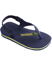 Havaianas baby Flip Flop with backstrap for baby and toddler. Blue, NWT