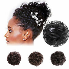 Hot Women Curly Hair Bun Clip In Ponytail Comb Chignon Hair Extension Hairpiece
