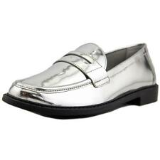 Cole Haan Pinch Campus Hand-Stained Penny Women Patent Leather Silver Loafer