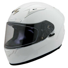Scorpion Adult White EXO-R2000 Solid Snell/DOT Race Full Face Motorcycle Helmet