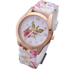 Jelly Fashion Women Quartz  1Pcs New Sports Watch Watches Floral Watch Silicone