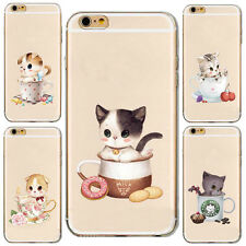 1Pcs Mobile Hot Cup Cat Soft Case Silicon Shell New For iPhone Phone