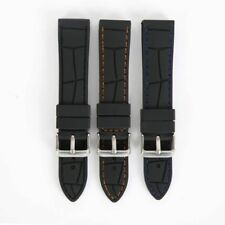 Silicone Rubber Watch Band Strap Man Black Waterproof Wristwatch Belt 20-26mm