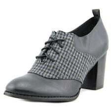 Restricted Pacific Lace-Up Ankle Bootie   Round Toe Leather  Heels
