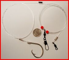 5 NEW Surf Pier 4' 200# Mono Bottom Fishing Rigs Shark Drum Catfish CHOOSE HOOKS