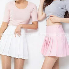Womens Tennis Pleated Mini Skirt School Girl Skater Plaid Skirt Shorts