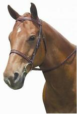 Kincade Padded Braided Bridle with Comfort Crown Headstall and Laced Reins