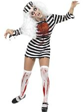 Sexy Zombie Prisoner Convict Ladies Halloween Party Fancy Dress Costume Outfit