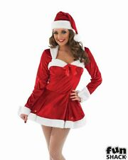 Sexy Miss Santa Ladies Christmas Party Fancy Dress Costume Outfit UK Size 8 - 22