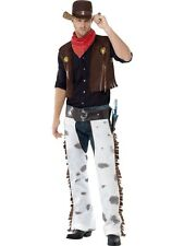 SALE! Adult Wild West Rodeo Cowboy Mens Fancy Dress Stag Party Costume Outfit