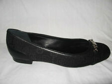 NIB AUTH GUCCI CANVAS Jacquard LEATHER BALLET FLATS SHOES sz  7.5
