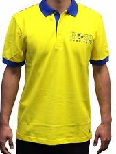 Hugo Boss Paddy Flag 100% Cotton Polo Shirt 50260461-732 Yellow SWEDEN