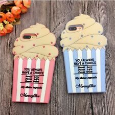 SOFT RUBBER SILICONE CASE COVER SKIN 3D Ice Cream For Apple iPhone 5 6S 7 PLUS