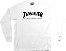 THRASHER SKATE MAG brand new LONG SLEEVE t-shirt - White