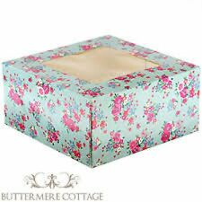 CUPCAKE BOX MUFFIN BOX + WINDOW PARTY GIFT BAKING 14 DESIGNS (HOLDS 4 CAKES)